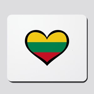 Lithuania Love Heart Mousepad