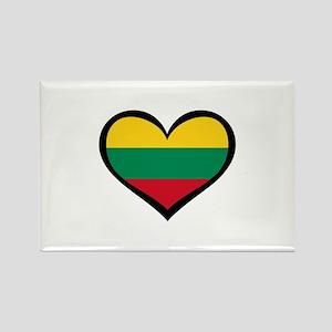 Lithuania Love Heart Rectangle Magnet