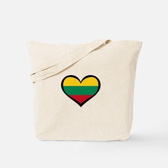 Lithuania Love Heart Tote Bag