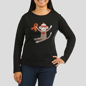 Leukemia Chemo Sock Monkey Long Sleeve T-Shirt