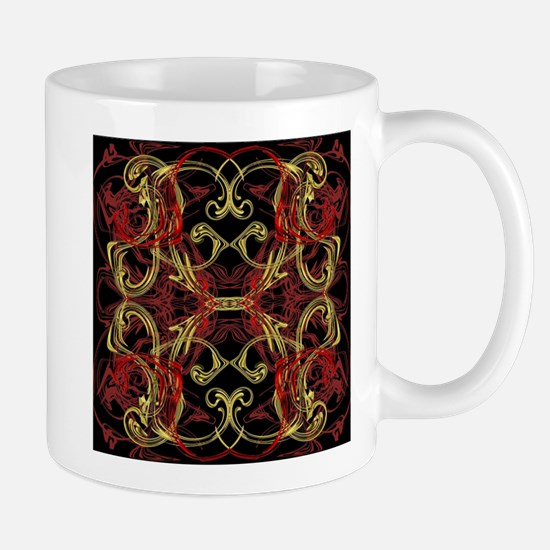 red,gold and black festive modern pattern Mugs