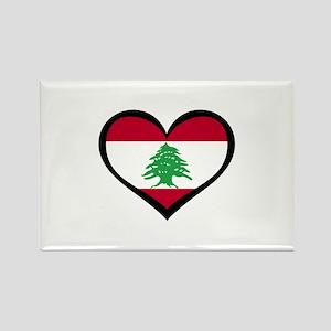 Lebanon Love heart Rectangle Magnet