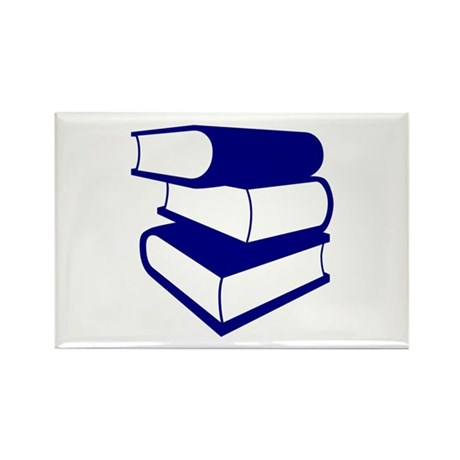 Stack Of Blue Books Rectangle Magnet (10 pack)