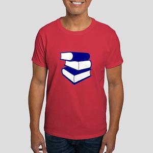 Stack Of Blue Books Dark T-Shirt