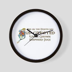God Created Shepherds Wall Clock