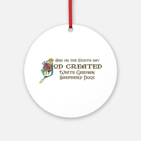 God Created Shepherds Ornament (Round)