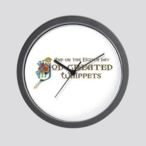 God Created Whippets Wall Clock