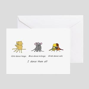 Tango Vals Milonga Greeting Cards