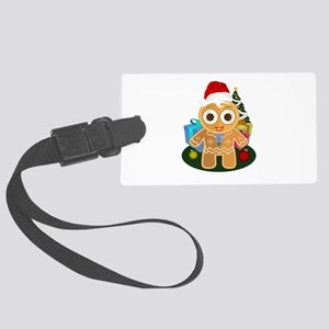 Christmas - Ginger Bread Man Large Luggage Tag