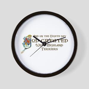 God Created Westies Wall Clock