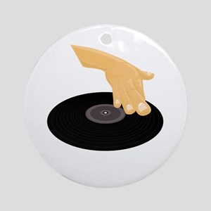 Dj Scratch Round Ornament