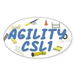 CSL1 Agility Title Oval Sticker
