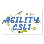 CSL1 Agility Title Rectangle Sticker