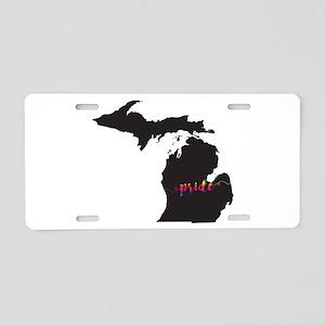 Michigan Pride Aluminum License Plate
