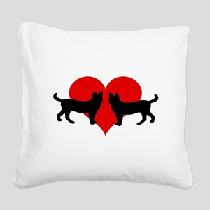 Cat lovers Square Canvas Pillow