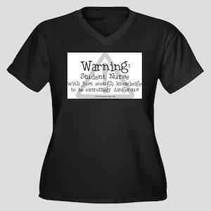 Student Nurse Warning Plus Size T-Shirt