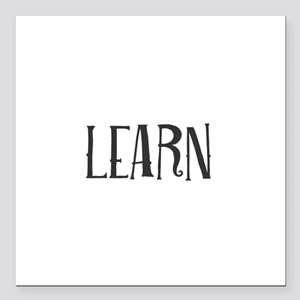 """Learn Square Car Magnet 3"""" x 3"""""""