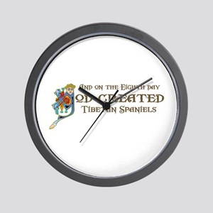 God Created Tibbies Wall Clock