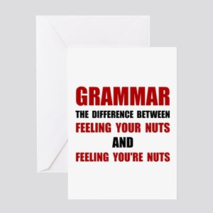 Grammar Nuts Greeting Cards
