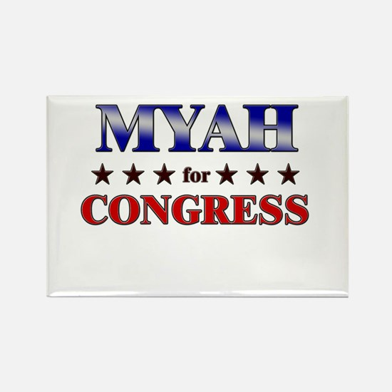 MYAH for congress Rectangle Magnet
