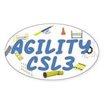 CSL3 Agility Title Oval Sticker