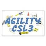 CSL3 Agility Title Rectangle Sticker