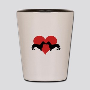 Dachshund-love Shot Glass