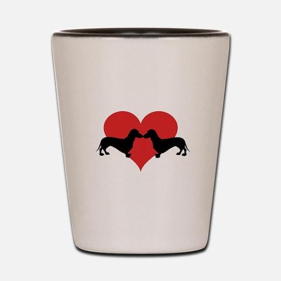 Dachshund-love Shot Glass