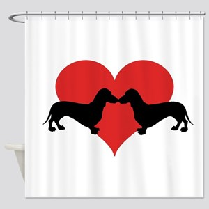 Dachshund-love Shower Curtain