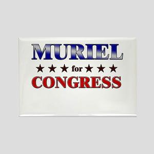 MURIEL for congress Rectangle Magnet
