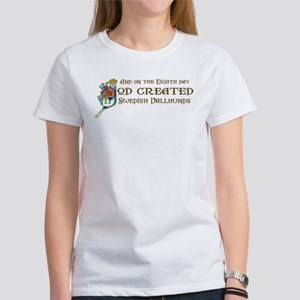 God Created Vallhunds Women's T-Shirt