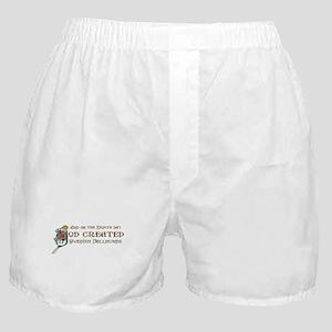 God Created Vallhunds Boxer Shorts