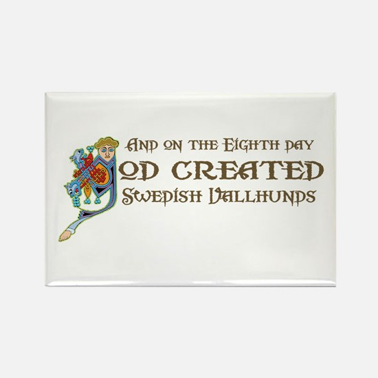 God Created Vallhunds Rectangle Magnet (10 pack)