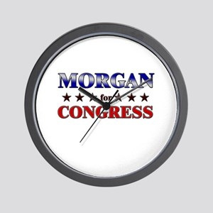 MORGAN for congress Wall Clock