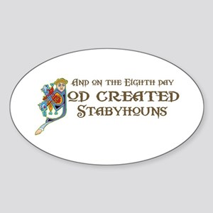God Created Stabys Oval Sticker