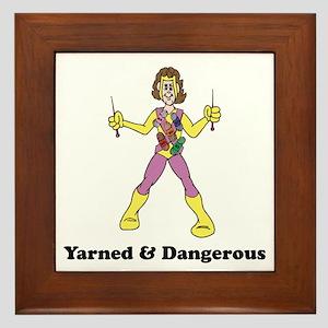 Yarned & Dangerous Knitting Hero Framed Tile