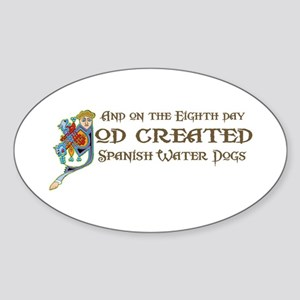 God Created SWDs Oval Sticker