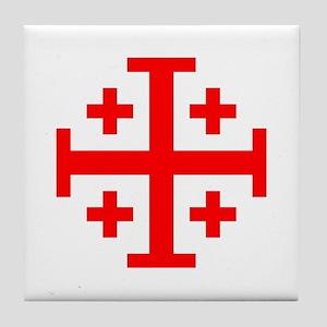 Crusaders Cross (Red) Tile Coaster