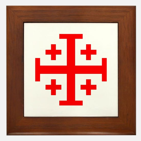 Crusaders Cross (Red) Framed Tile