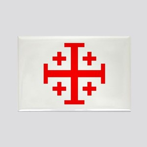 Crusaders Cross (Red) Rectangle Magnet