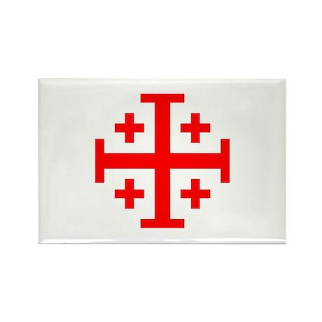 Crusaders Cross (Red) Rectangle Magnet