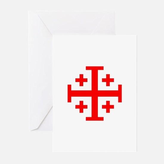 Crusaders Cross (Red) Greeting Cards (Pk of 10)