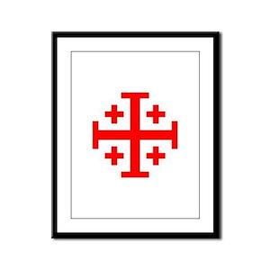 Crusaders Cross (Red) Framed Panel Print