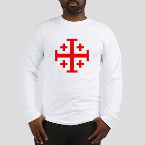Crusaders Cross (Red) Long Sleeve T-Shirt