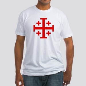 Crusaders Cross (Red) Fitted T-Shirt