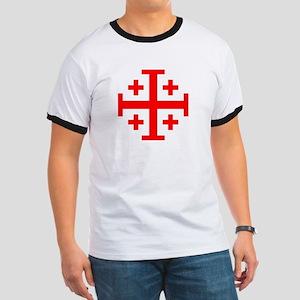 Crusaders Cross (Red) Ringer T