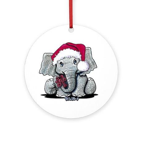 Holiday Elephant Ornament (Round)