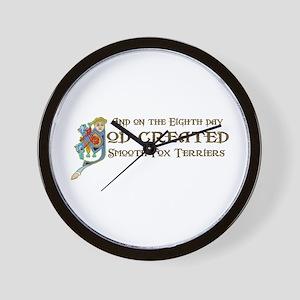 God Created Foxies Wall Clock