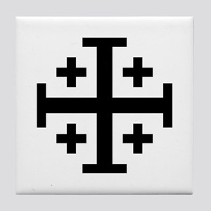 Crusaders Cross (Black) Tile Coaster