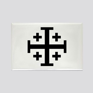 Crusaders Cross (Black) Rectangle Magnet